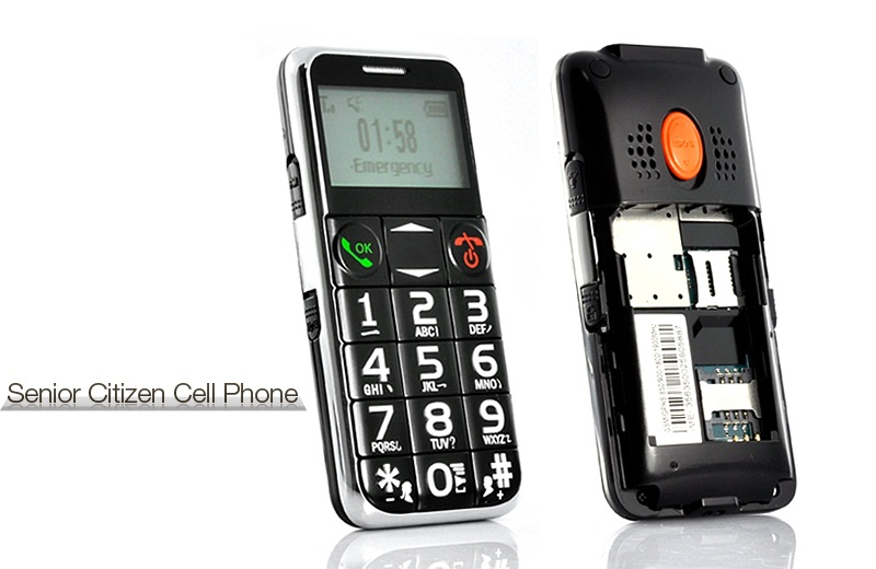 Senior Citizen Quad Band Cell Phone With Flashlight Tem