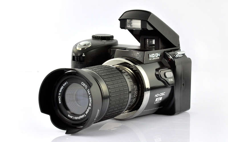 720P Digital Camcorder with 16x Optical Telescope Zoom Lens
