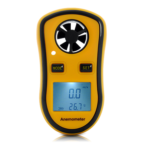 Portable 1.5 Inch Wind Speed Meter (Digital Anemometer + Thermometer)