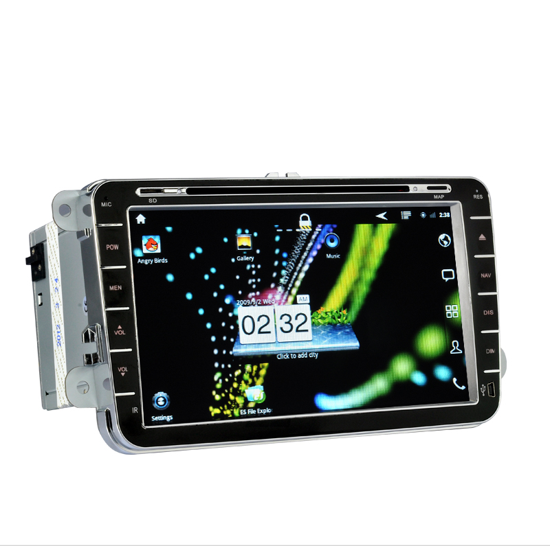 Knight Rider - 8 Inch Android 2.3 Car DVD Player for Volkswagen (2 DIN, 3G + WiFi, GPS)