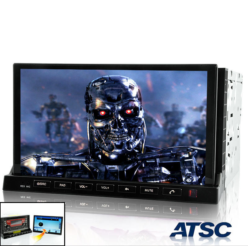 Road Terminator ATSC Version - 2 DIN In Dash Car DVD Player with 7