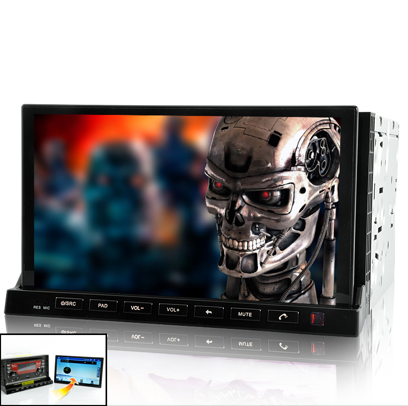 Road Terminator - 2 DIN In Dash Car DVD Player with 7