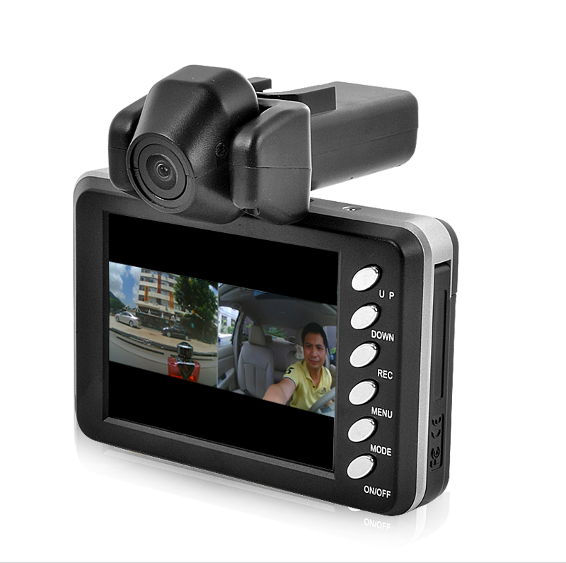 Dual Camera Car Digital Video Recorder (720P, H.264, 2.8 Inch LCD)