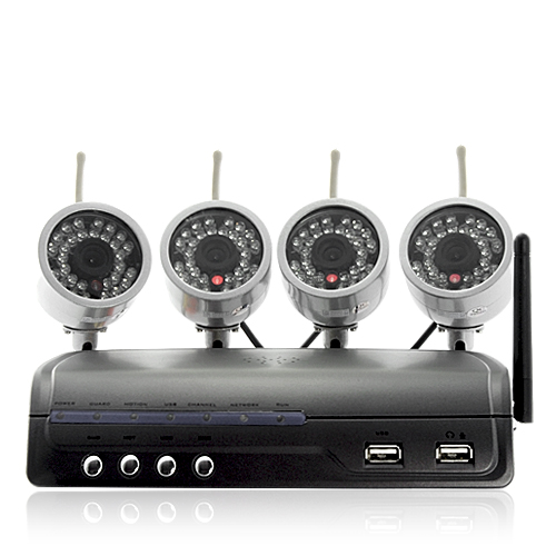 IP Camera Server with 4 Wireless Cameras (H.264, Motion Detection)