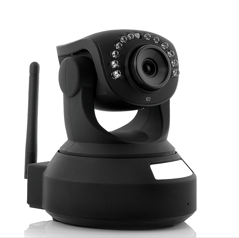 Wireless IP Camera with Angle Control (IR Cut-off Filter, Nightvision, Two Way Audio)