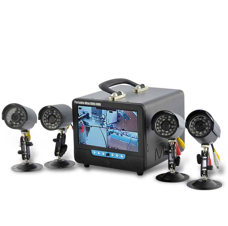 Wholesale 7 Inch LCD DVR System with 4 Cameras and Microphone