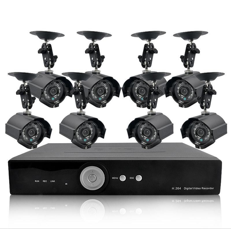 H264 DVR + 420 TVL Weatherproof IP Camera + 1TB HDD