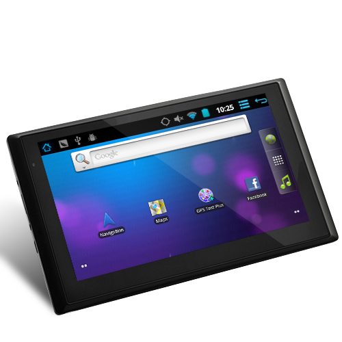 CyberNav - GPS Navigator + 7 Inch Touchscreen Android 2.3 Tablet (1.2GHz CPU, 512MB DDR3, 8GB, FM Transmitter)