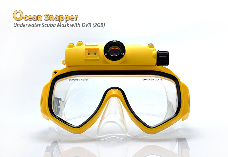Ocean Snapper - Underwater Scuba Mask with Detachable DVR (2560x1920 JPEG, 640x480 AVI)