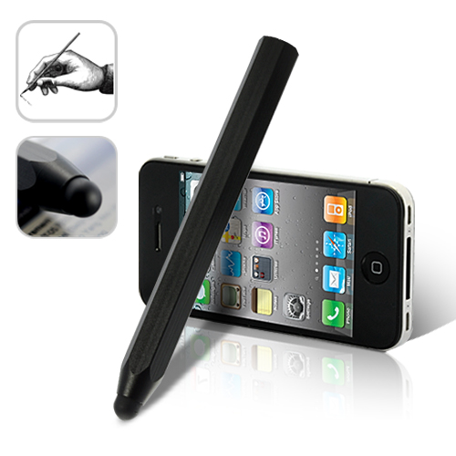 Hollow Steel Stylus for Touchscreen Electronics - Black