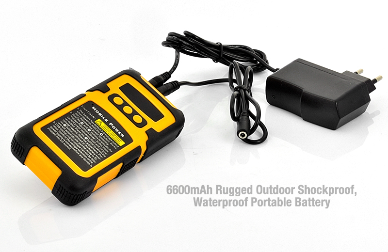6600mah Portable Battery Charger With 8 Connectors Rugged