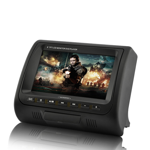 8 Inch Widescreen Headrest Mount Car DVD Player with FM Transmitter and Two A/V In