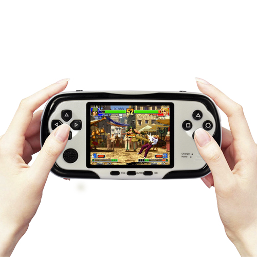 PlayMore - 2.8 Inch Multi-Platform Handheld Gaming System with AV Out - 4GB