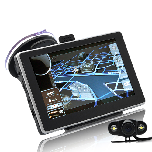 "Wholesale 5"" Touchscreen Car GPS Navigator w/ Wireless Reversing Camera (800 x 480, WinCE 5.0)"