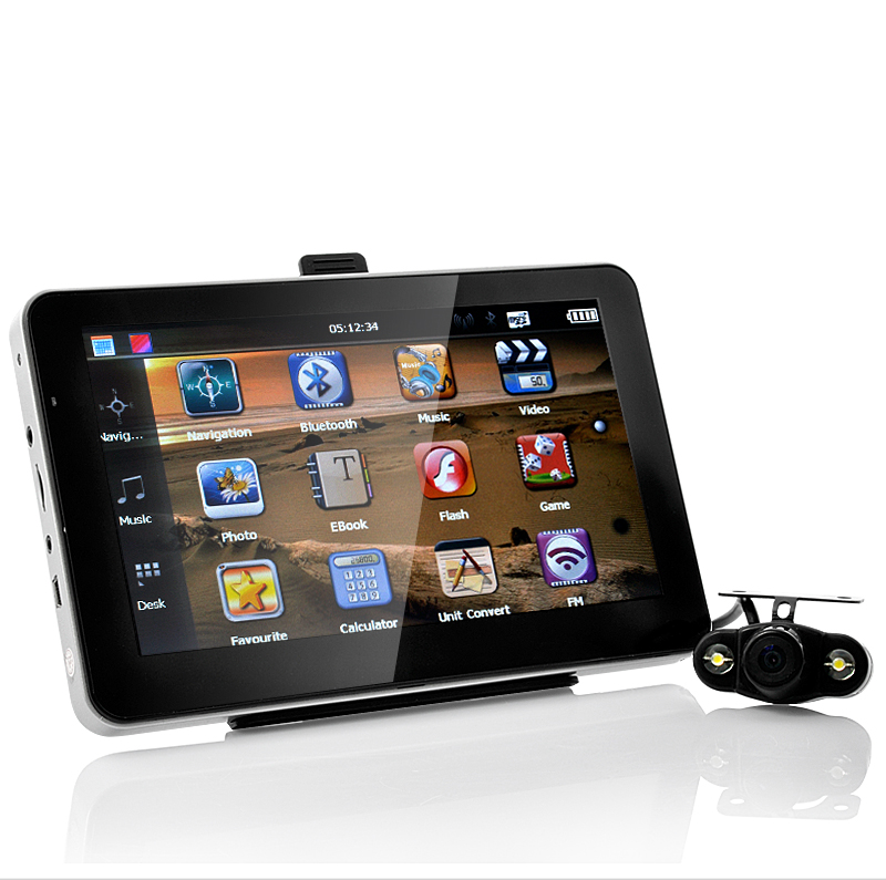 7 Inch Touchscreen GPS Navigator with Wireless Nightvision Rearview Camera and FM Transmitter