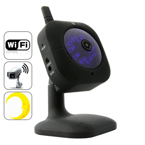 Wired / Wireless IP Camera with Automatic Nightvision and Microphone