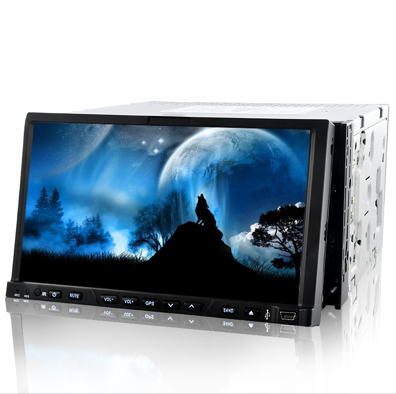 Road Wolf - 7 Inch Two DIN Car DVD Player with GPS and DVB-T (Dual Zone, Detachable Panel)