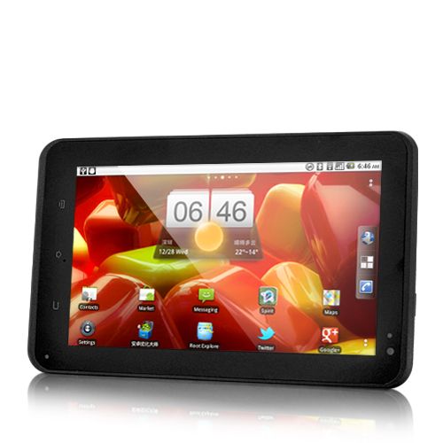 Silex - 7 Inch Capacitive Android Tablet: Dual Camera, 800 MHz CPU, 3G, WiFi