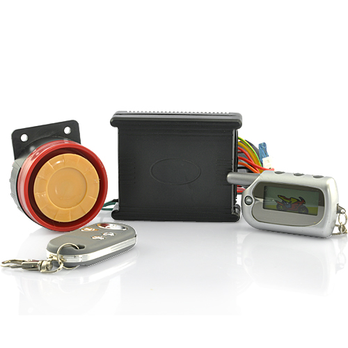 2-Way Motorcycle Alarm Security System with 1.5 Inch Remote Control - 100 Meters