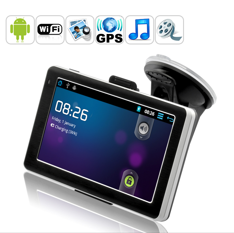"Wholesale CyberNav Mini 2 - Android Tablet + GPS Navigator (5"" Touchscreen, 1.2 GHz CPU, 512MB DDR3, 8GB)"