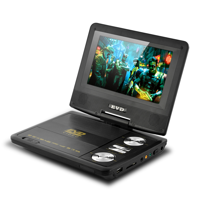 7 Inch Swivel Screen Portable DVD Player (CD Copy, Analog TV, AV In & Out)