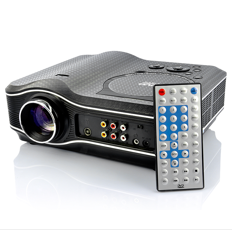 Multimedia LED Projector + Portable DVD Player (640 x 480, TV & AV In)