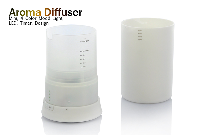 Wholesale Aroma Diffuser - Mini 4 Color LED Mood Light - Humidifier with Timer