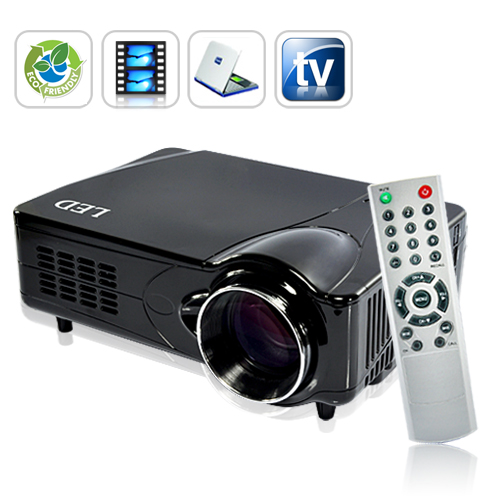 LED Multimedia Projector (HDMI/VGA/AV Out, 2200 ANSI Lumens, 800x 600)