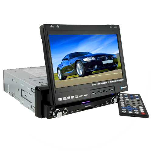 7 Inch Multi-angled TFT Touchscreen Car DVD Player (1-DIN, Bluetooth, GPS)