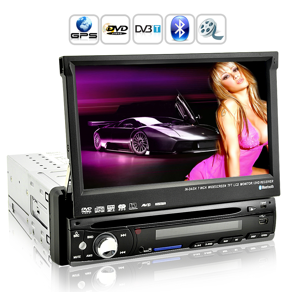 Shockwave - 7 Inch HD Touchscreen Car DVD Player (1 DIN, GPS, DVB-T)
