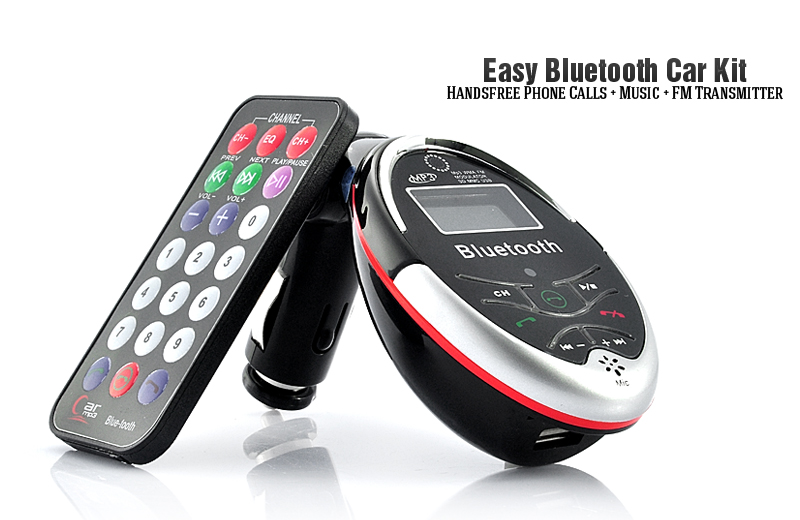 Handsfree Bluetooth Car Kit with MP3 Player and FM Transmitter
