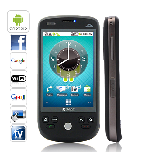 Eclipse Novus - 3.2 Inch Capacitive Screen Android 2.2 Smartphone (TV, Black)