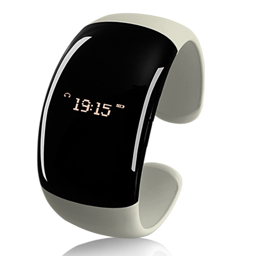 Wholesale Fashion Bluetooth Bracelet Watch (Pearl White, Call Vibration, Call ID)