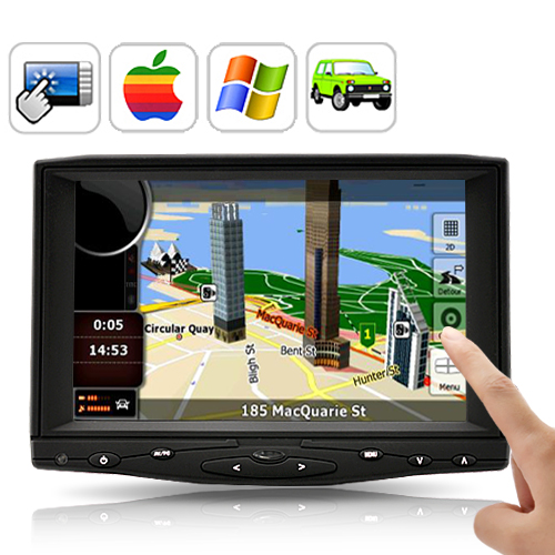 7 Inch HD Touchscreen Car Monitor - AV, VGA, HDMI Input