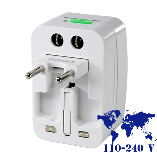 Wholesale 110-240V Universal Travel Adapter with Surge Protection