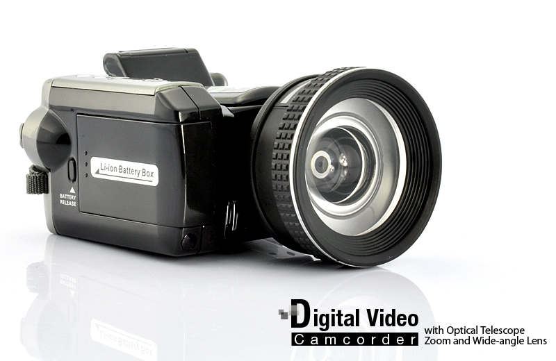 Digital Video Camcorder (16x Optical Zoom Telescope Lens, CMOS 5MP)
