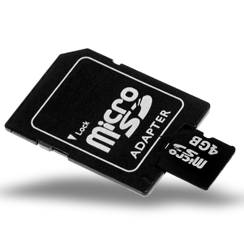 Wholesale 4GB Micro SD / TF Card + SD Card Slot Adapter
