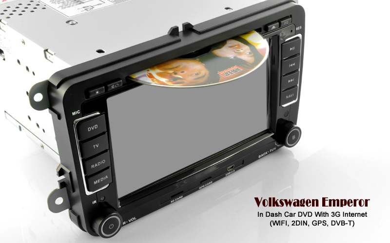 Road Emperor - 2 DIN In Dash Car DVD Player with Dual Zone, DVB-T, 3G - Volkswagen Edition