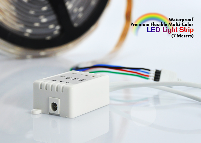 Wholesale Flexible Weatherproof Multi-Color LED Strip (7 Meters, Remote)