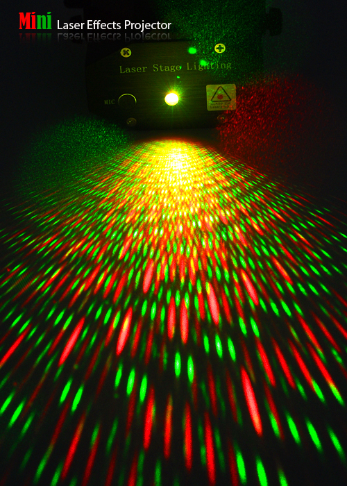 sound activated mini laser stage projector with stroboflash tgf