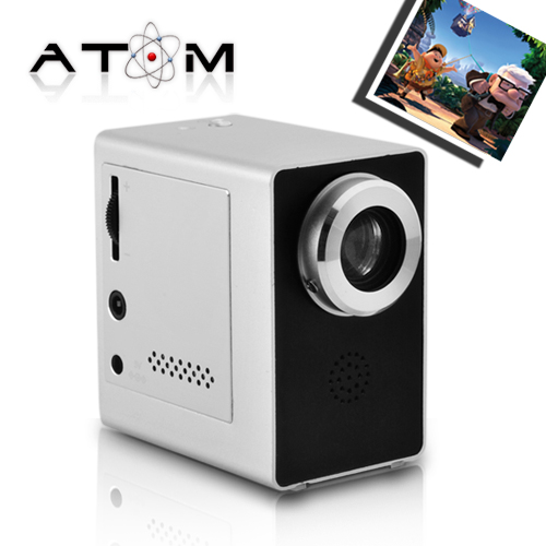 The Atom - Mini Projector with Foldable Tripod