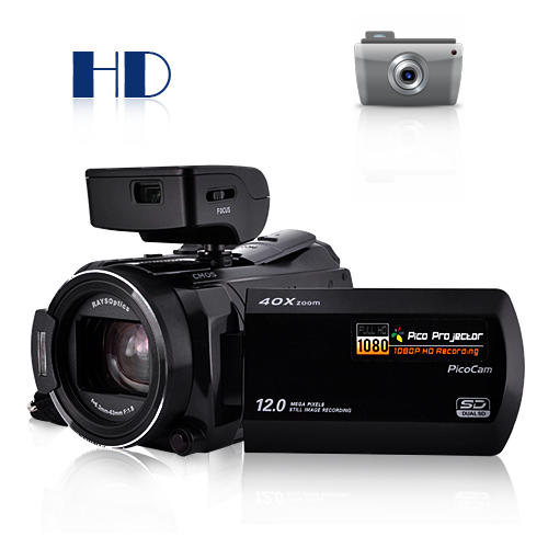 Wholesale Ordro HDV-D350S - 10MP HD Camcorder + Mini Projector (H.264, HDMI Out)