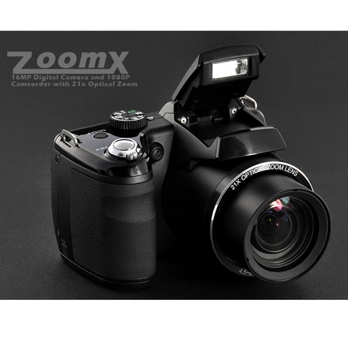 ZoomX - 16MP Digital Camera + 920x1080P @ 60fps Camcorder (21x Optical Zoom)