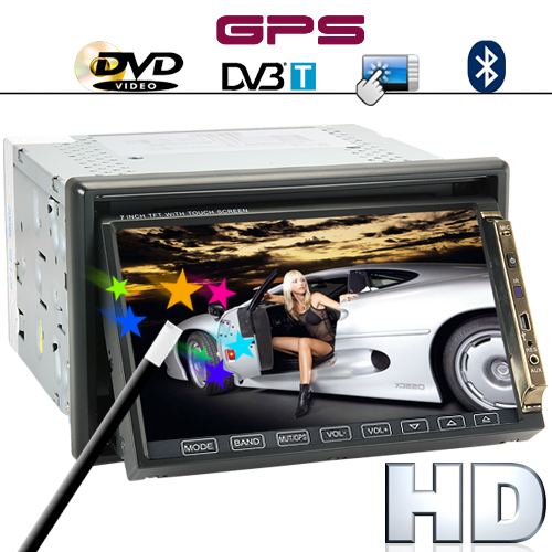 Road King - 7 Inch HD Car DVD Player with Dual Zone, GPS and DVB-T