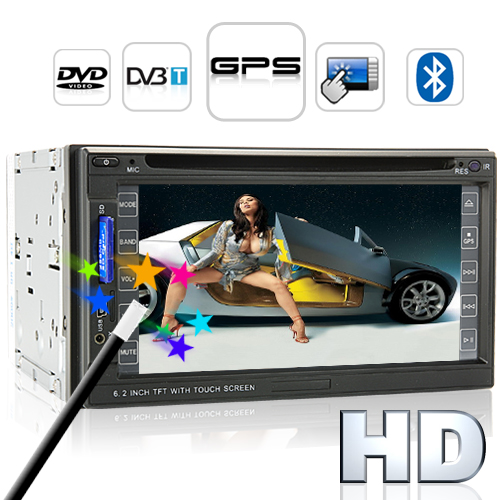 Road King - 6.2 Inch HD Car DVD Player with Dual Zone, GPS and DVB-T