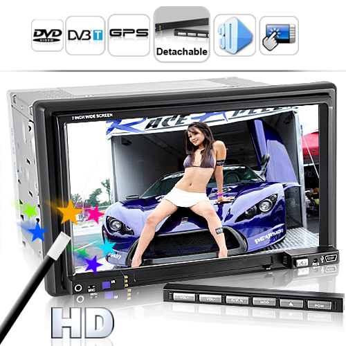 Street King X1 - 6.2 Inch LCD Car DVD Player (Detachable, GPS, DVB-T)