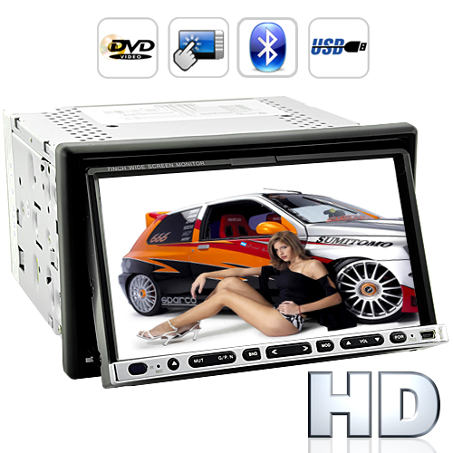 Road Hammer - 2 DIN Car DVD Player with Bluetooth - 7