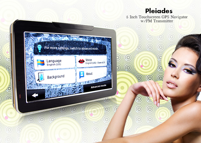 "Wholesale Pleiades - 5"" Touchscreen GPS Navigator with Multimedia System"