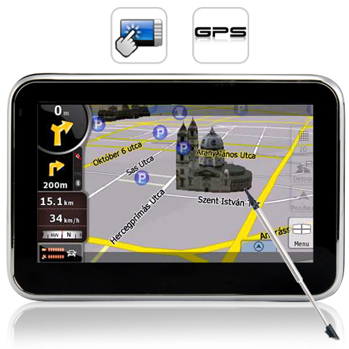 "Wholesale Portable 4.3"" GPS Navigator + Multimedia Player - SiRF Atlas IV Chipset"