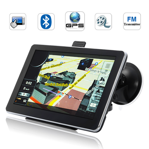 "Wholesale 7"" HD Touchscreen GPS Navigator (800 x 480, Bluetooth, FM transmitter)"